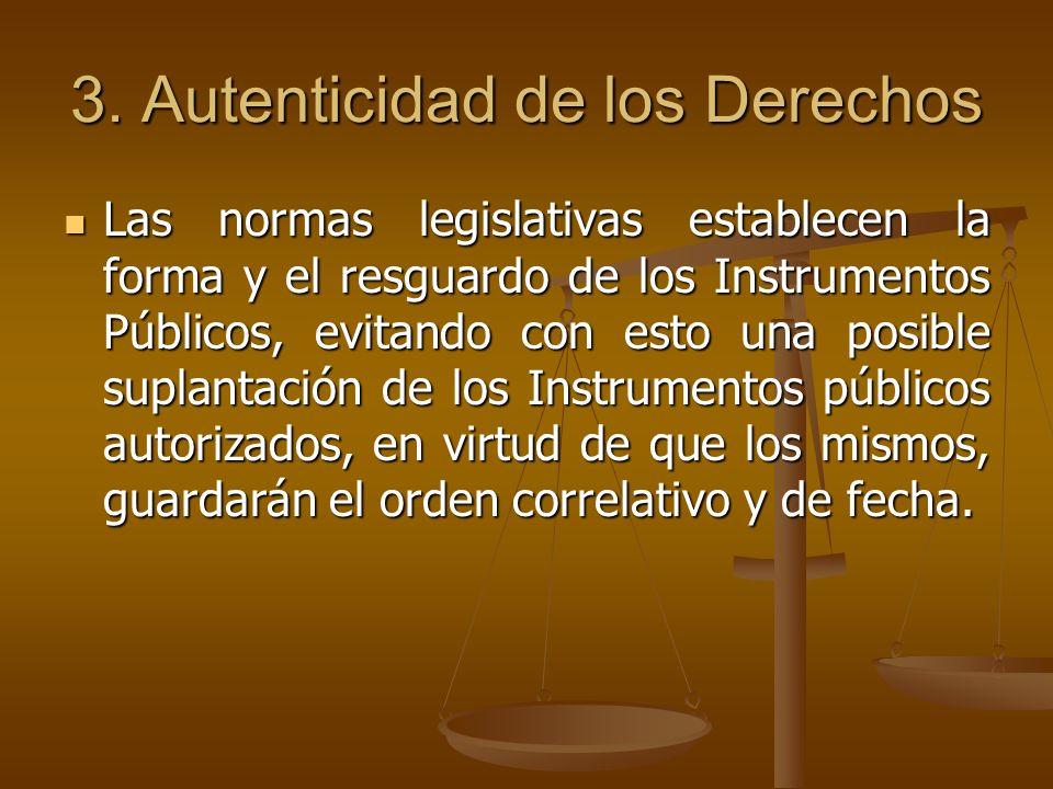 3. Autenticidad de los Derechos
