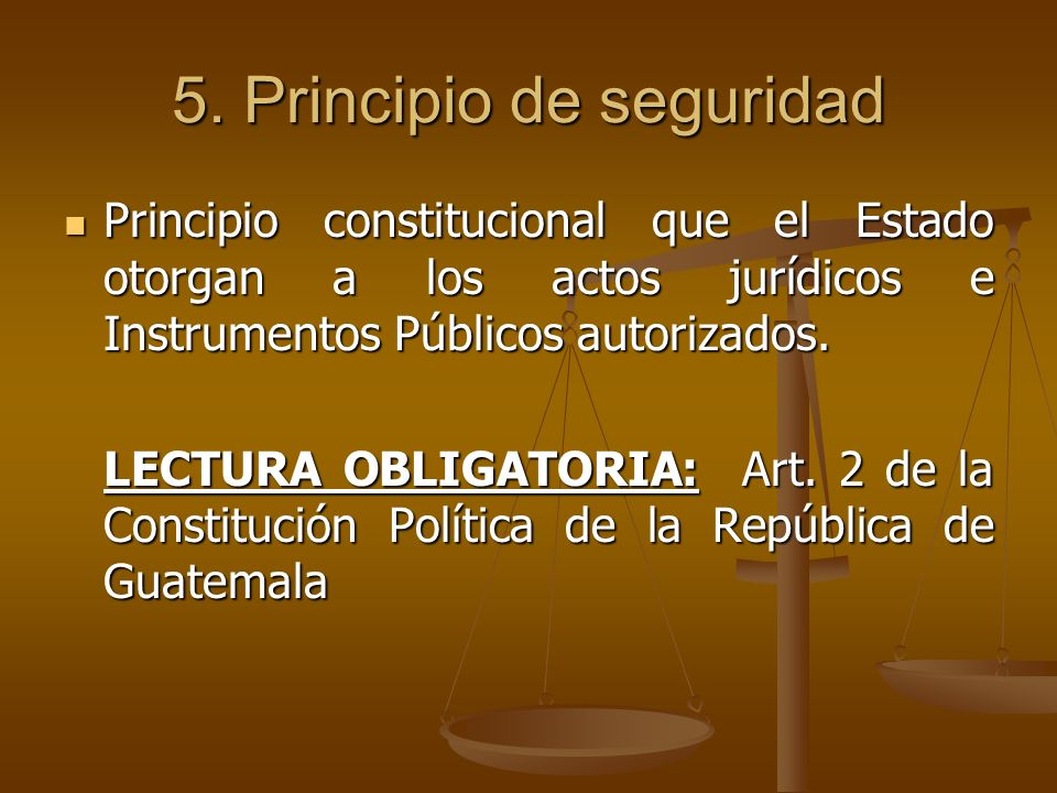 5. Principio de seguridad
