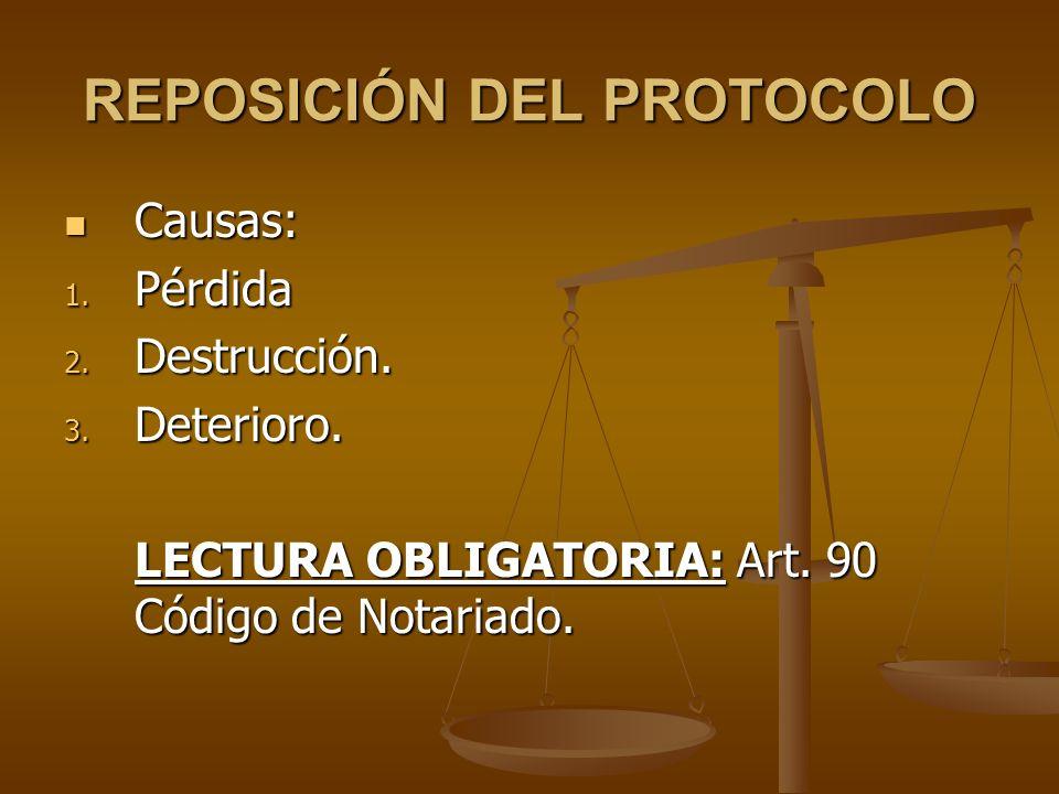 REPOSICIÓN DEL PROTOCOLO