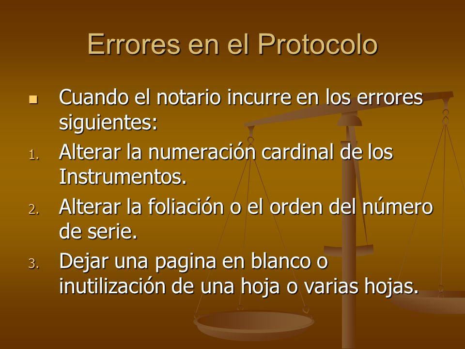 Errores en el Protocolo