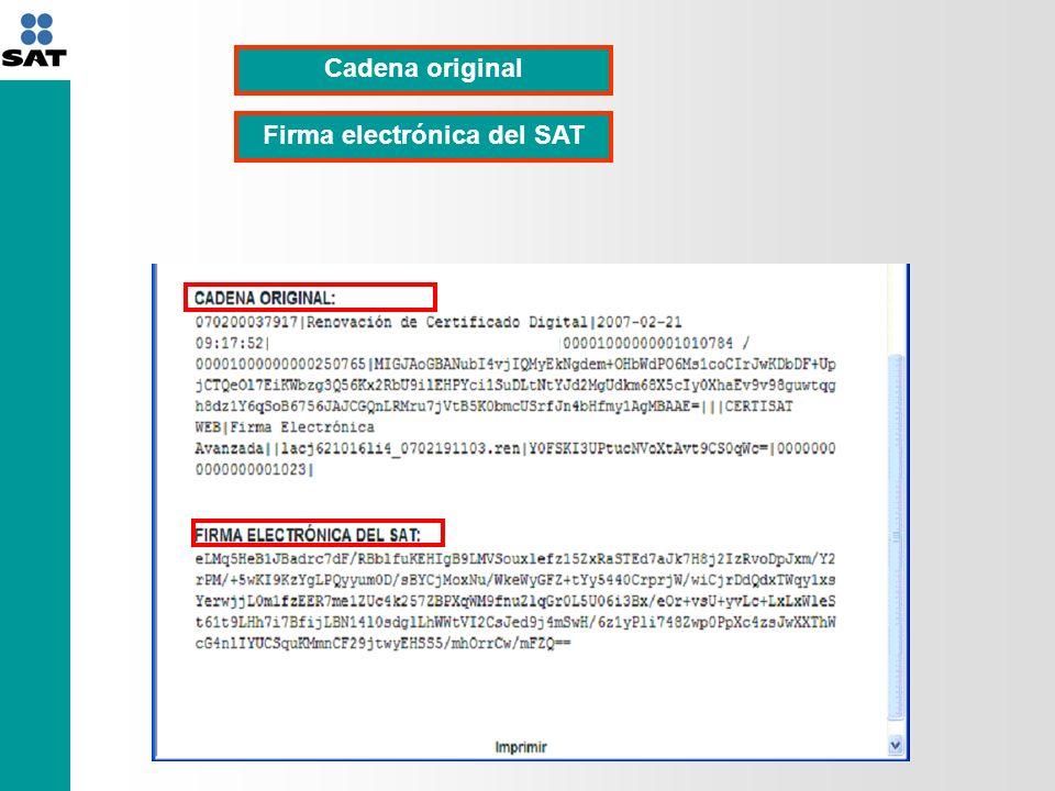 Firma electrónica del SAT