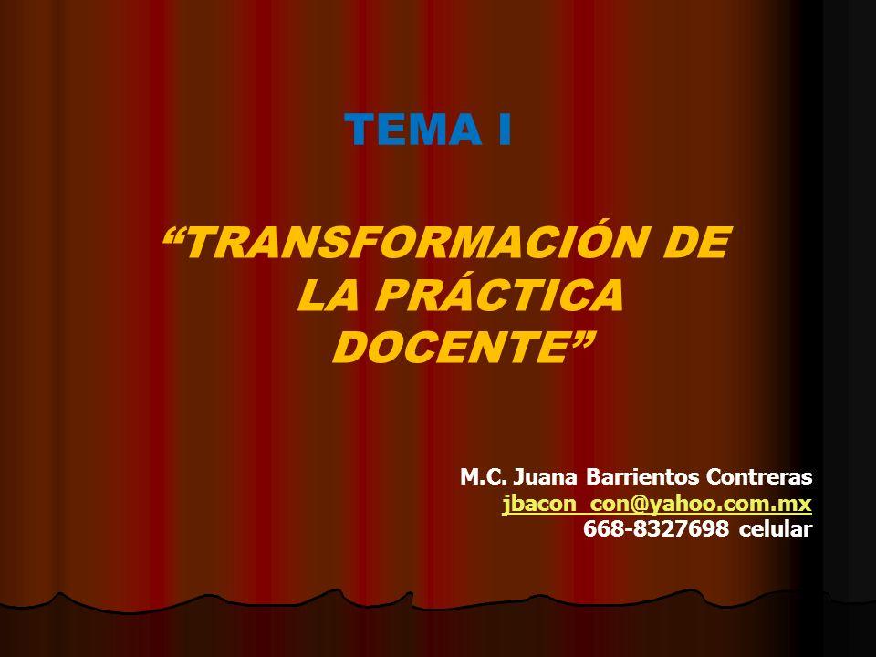 TRANSFORMACIÓN DE LA PRÁCTICA DOCENTE