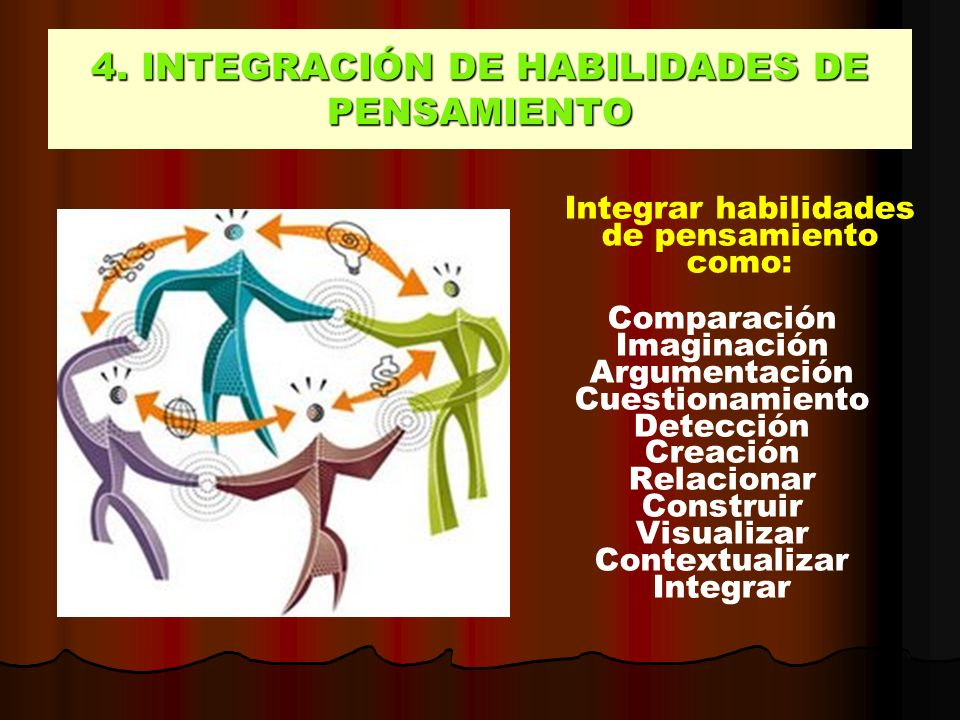 4. INTEGRACIÓN DE HABILIDADES DE PENSAMIENTO