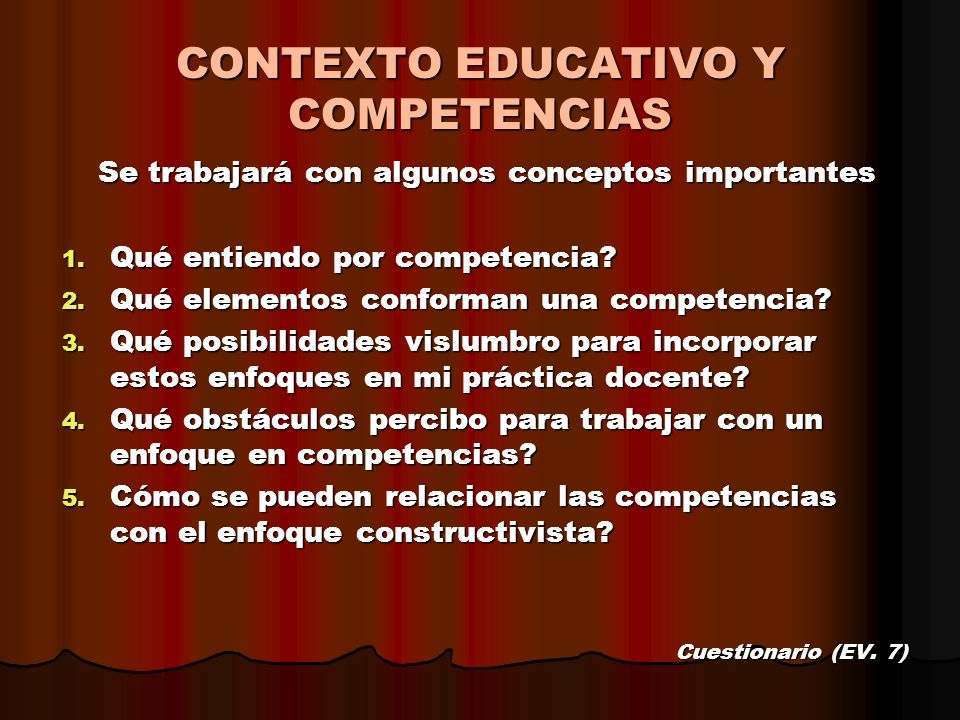 CONTEXTO EDUCATIVO Y COMPETENCIAS