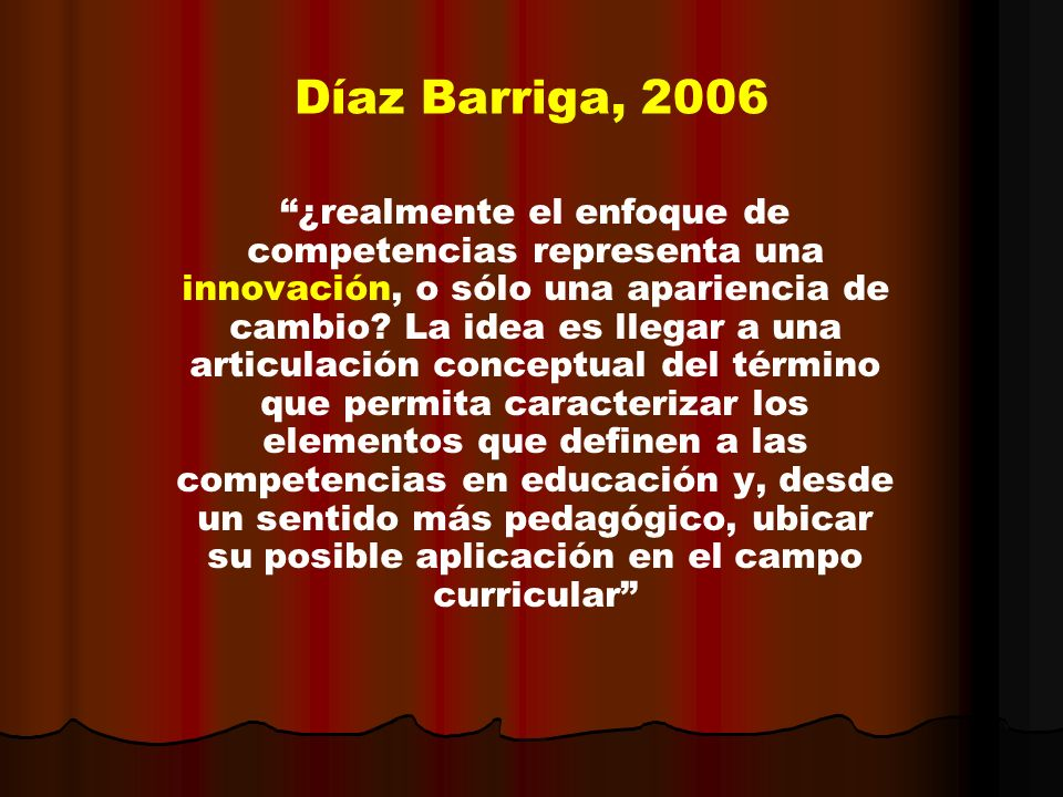 Díaz Barriga, 2006