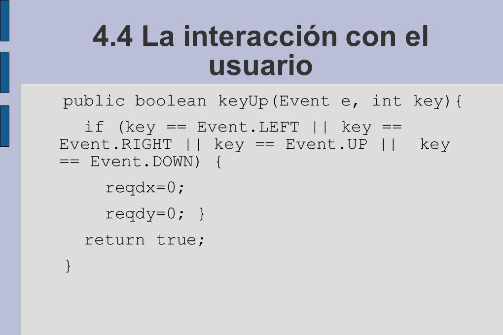 4.4 La interacción con el usuario