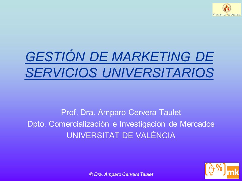 GESTIÓN DE MARKETING DE SERVICIOS UNIVERSITARIOS