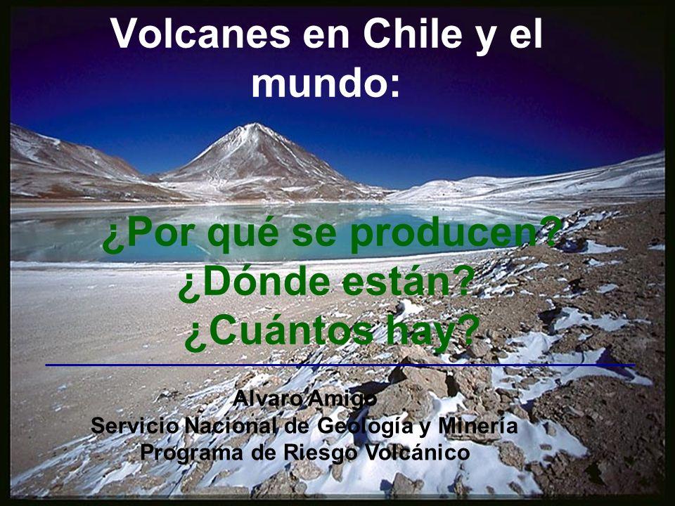 Servicio Nacional de Geología y Minería Programa de Riesgo Volcánico