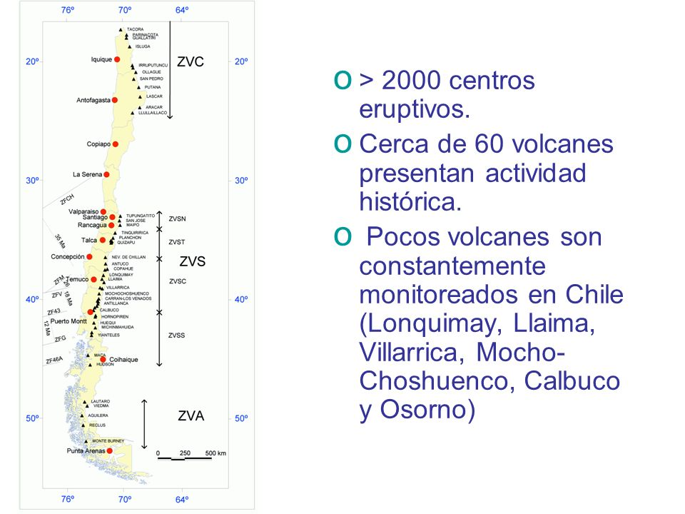 > 2000 centros eruptivos.