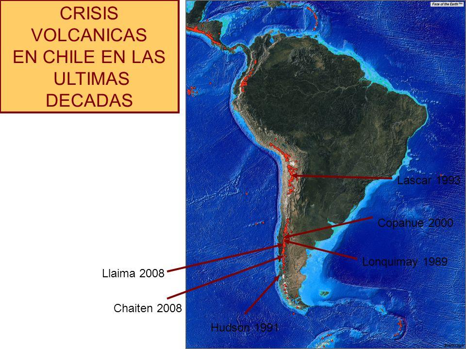 CRISIS VOLCANICAS EN CHILE EN LAS ULTIMAS DECADAS Lascar 1993
