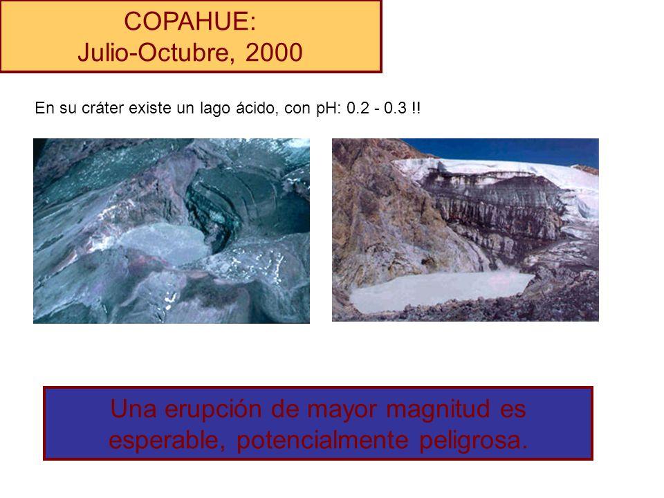 Una erupción de mayor magnitud es esperable, potencialmente peligrosa.