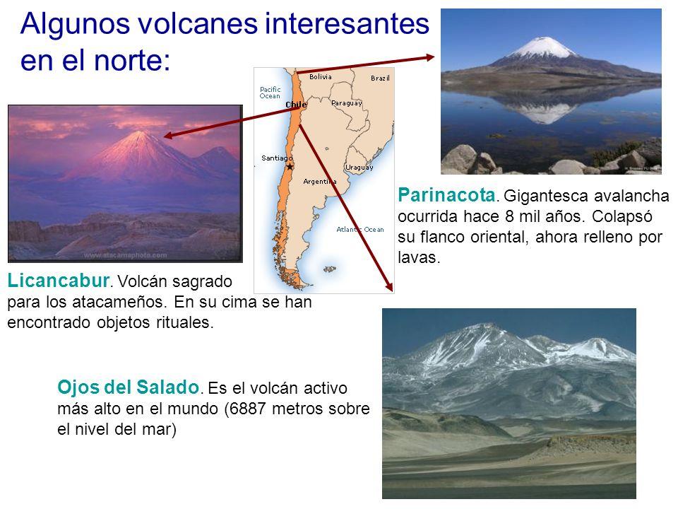 Algunos volcanes interesantes en el norte: