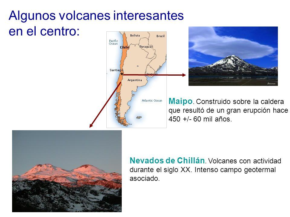 Algunos volcanes interesantes en el centro: