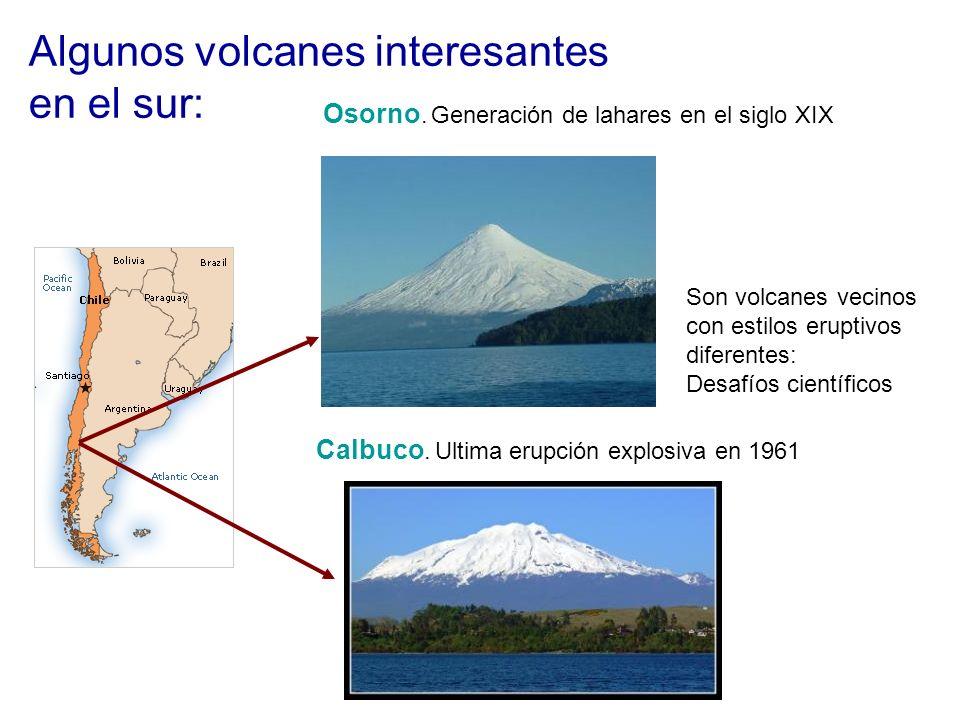 Algunos volcanes interesantes en el sur: