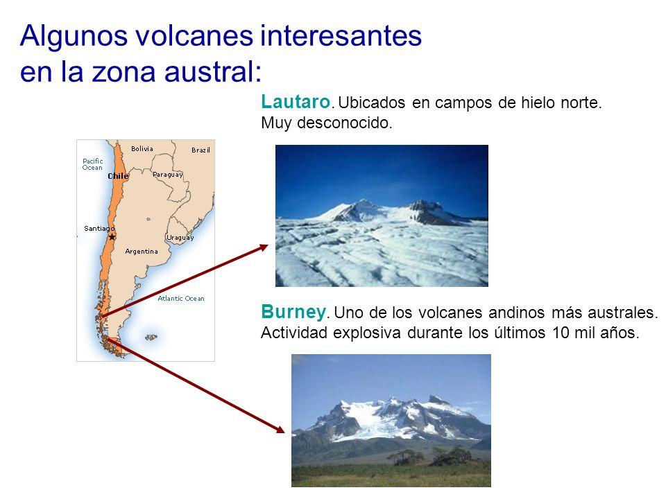 Algunos volcanes interesantes en la zona austral: