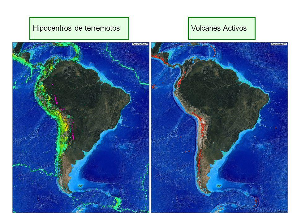 Hipocentros de terremotos