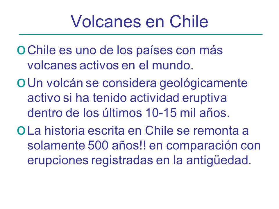 Volcanes en Chile Chile es uno de los países con más volcanes activos en el mundo.