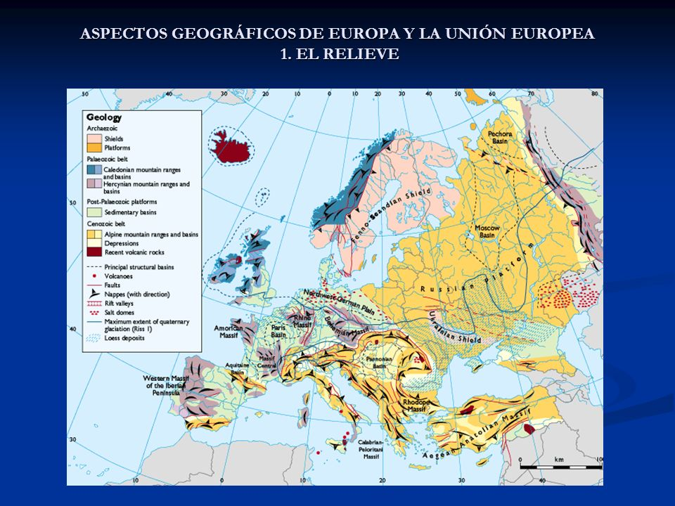 ASPECTOS GEOGRÁFICOS DE EUROPA Y LA UNIÓN EUROPEA 1. EL RELIEVE