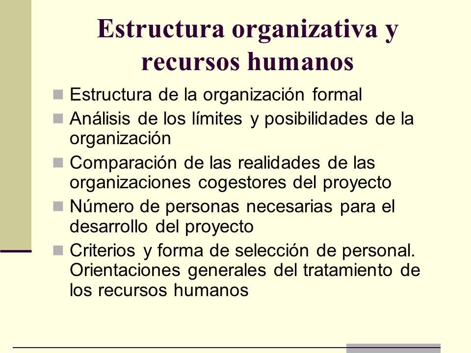 Estructura organizativa y recursos humanos