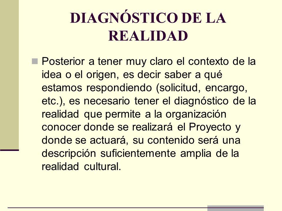 DIAGNÓSTICO DE LA REALIDAD