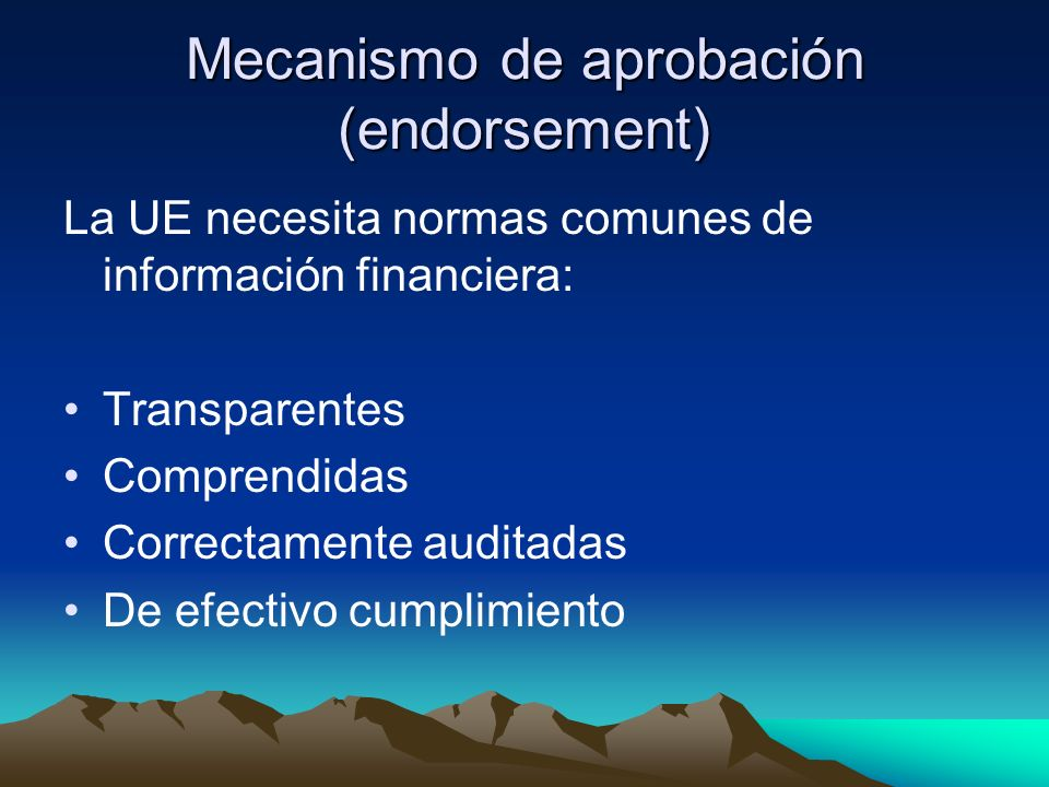 Mecanismo de aprobación (endorsement)