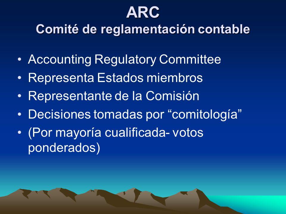 ARC Comité de reglamentación contable
