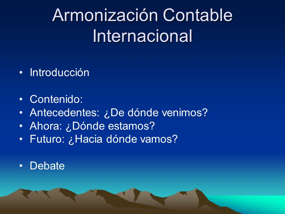 Armonización Contable Internacional
