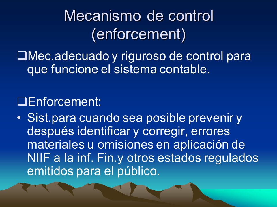Mecanismo de control (enforcement)