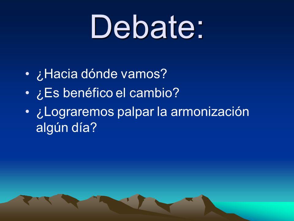 Debate: ¿Hacia dónde vamos ¿Es benéfico el cambio