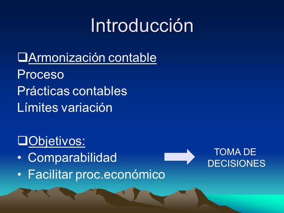 Introducción Armonización contable Proceso Prácticas contables