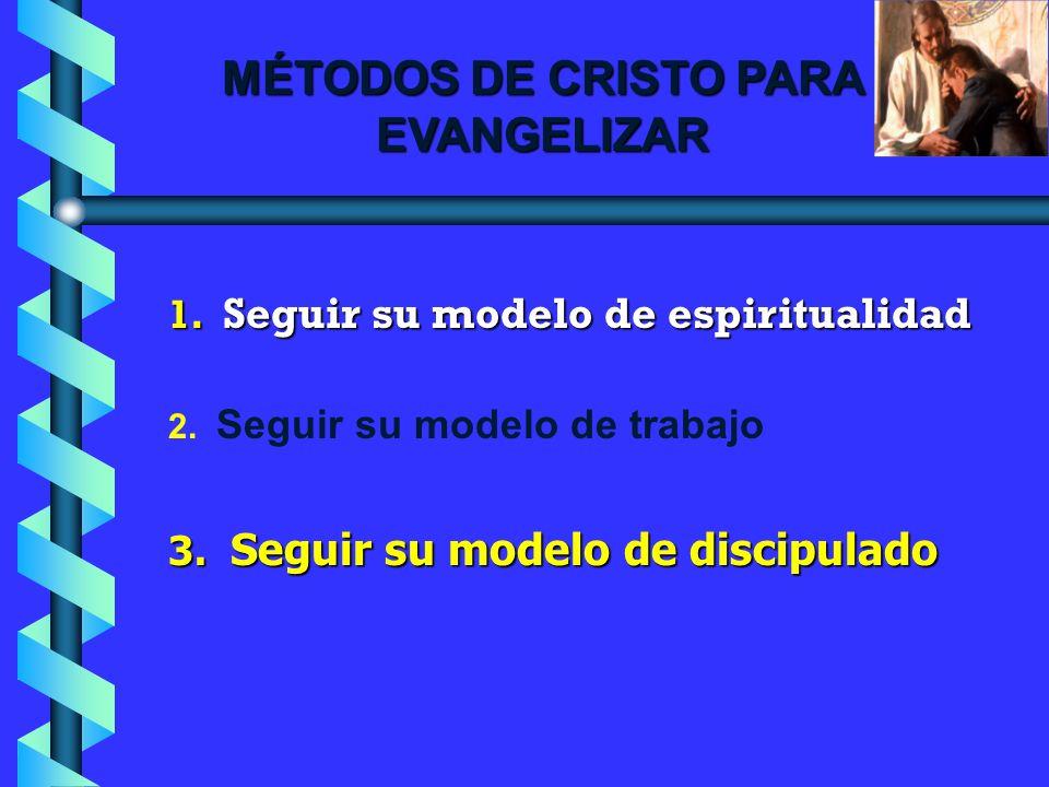 MÉTODOS DE CRISTO PARA EVANGELIZAR