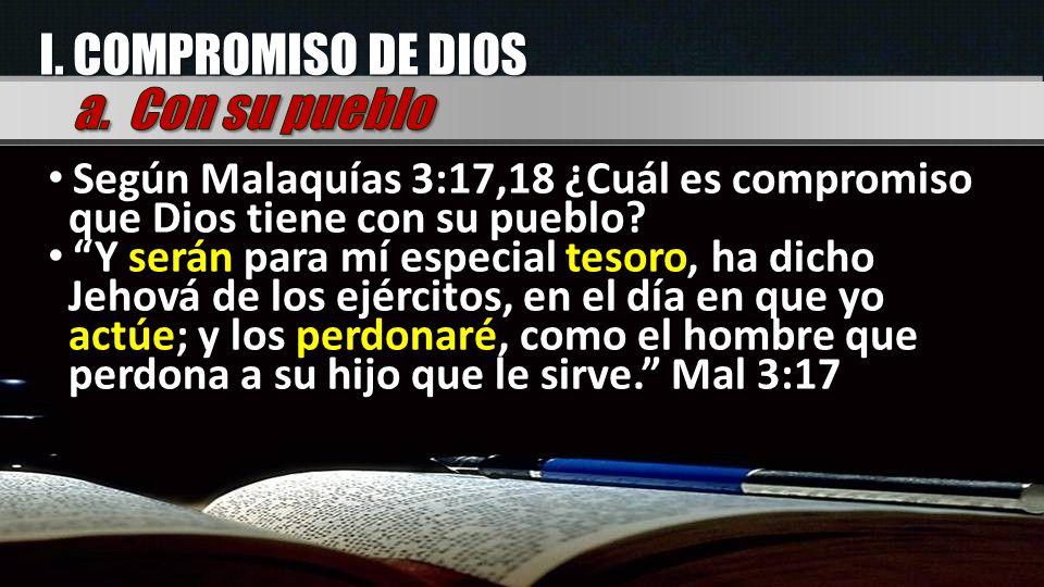 I. COMPROMISO DE DIOS a. Con su pueblo