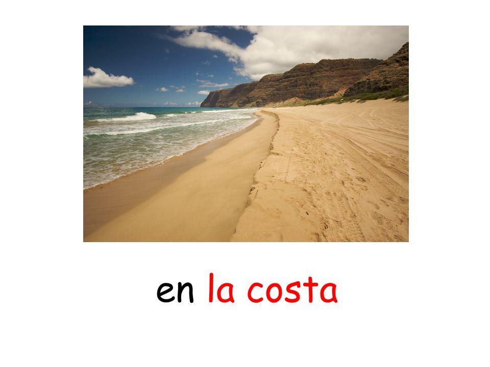 en la costa