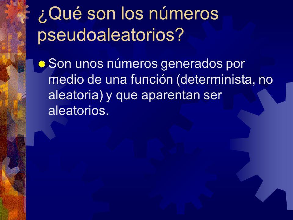 ¿Qué son los números pseudoaleatorios