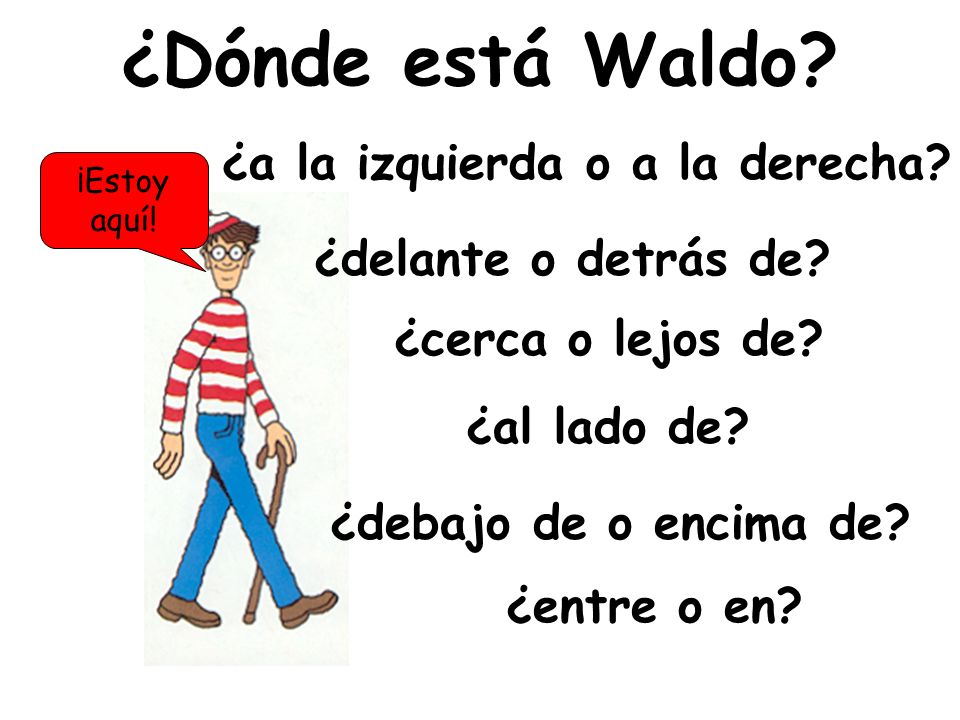 ¿Dónde está Waldo ¿a la izquierda o a la derecha