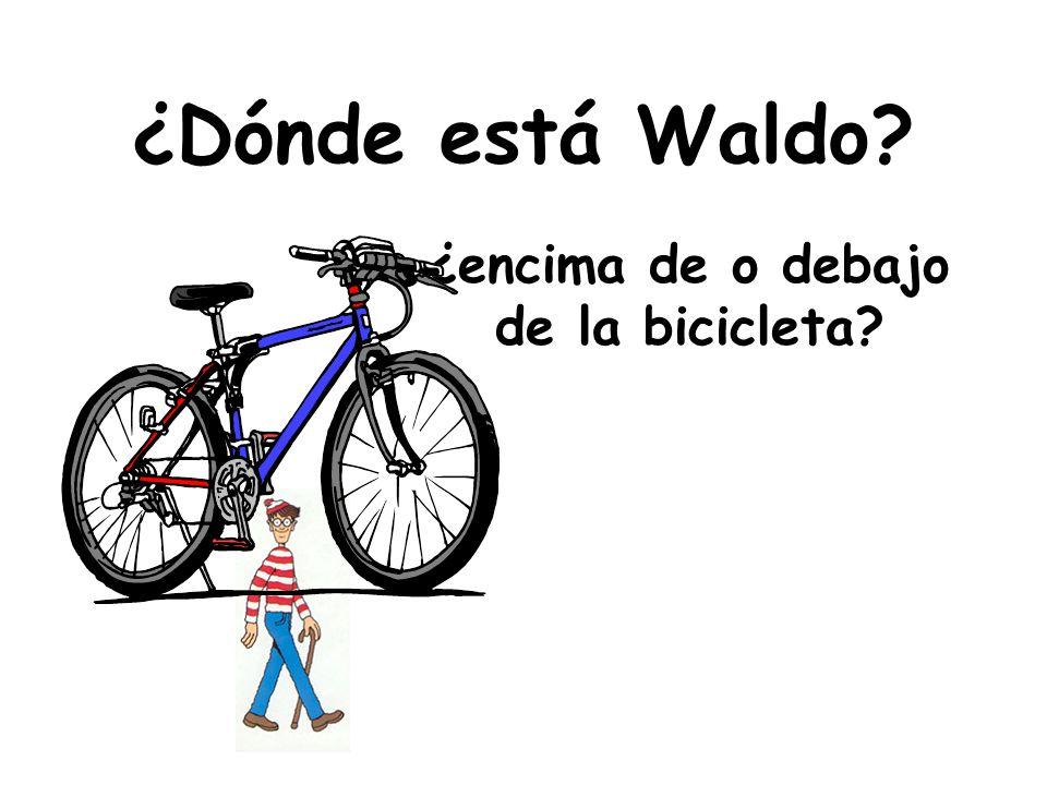 ¿encima de o debajo de la bicicleta