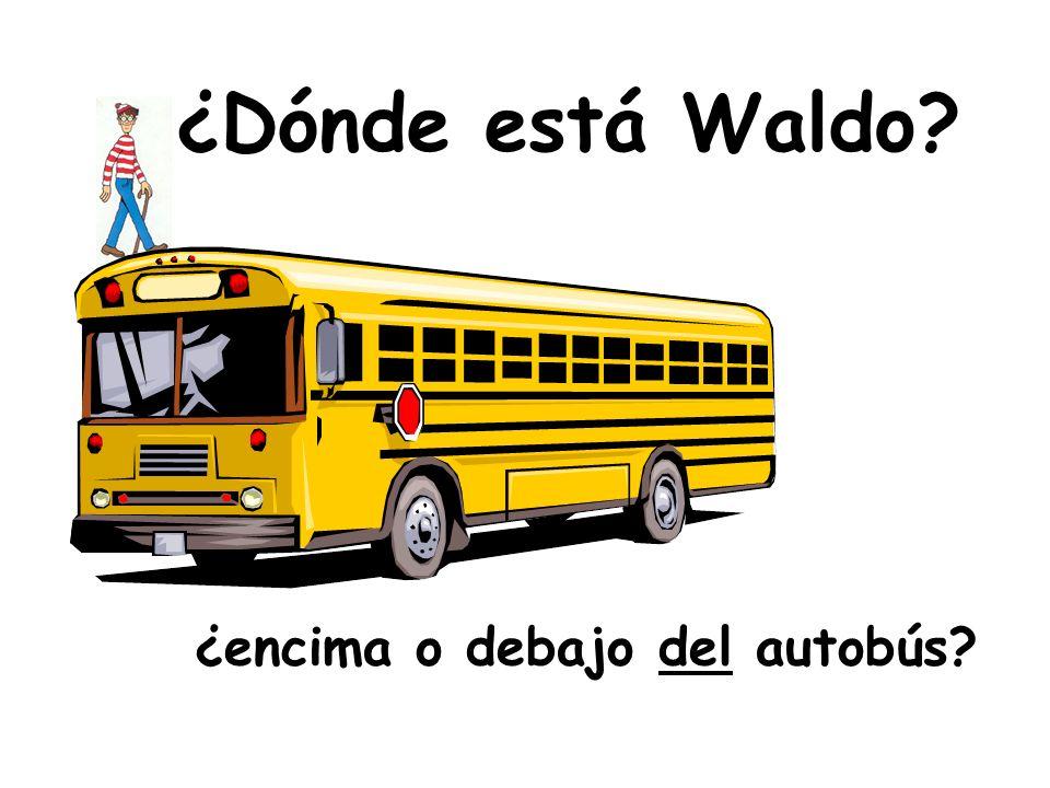¿encima o debajo del autobús