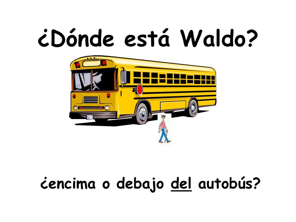 ¿Dónde está Waldo ¿encima o debajo del autobús