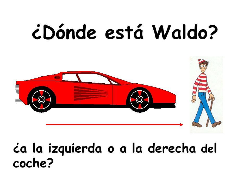 ¿Dónde está Waldo ¿a la izquierda o a la derecha del coche