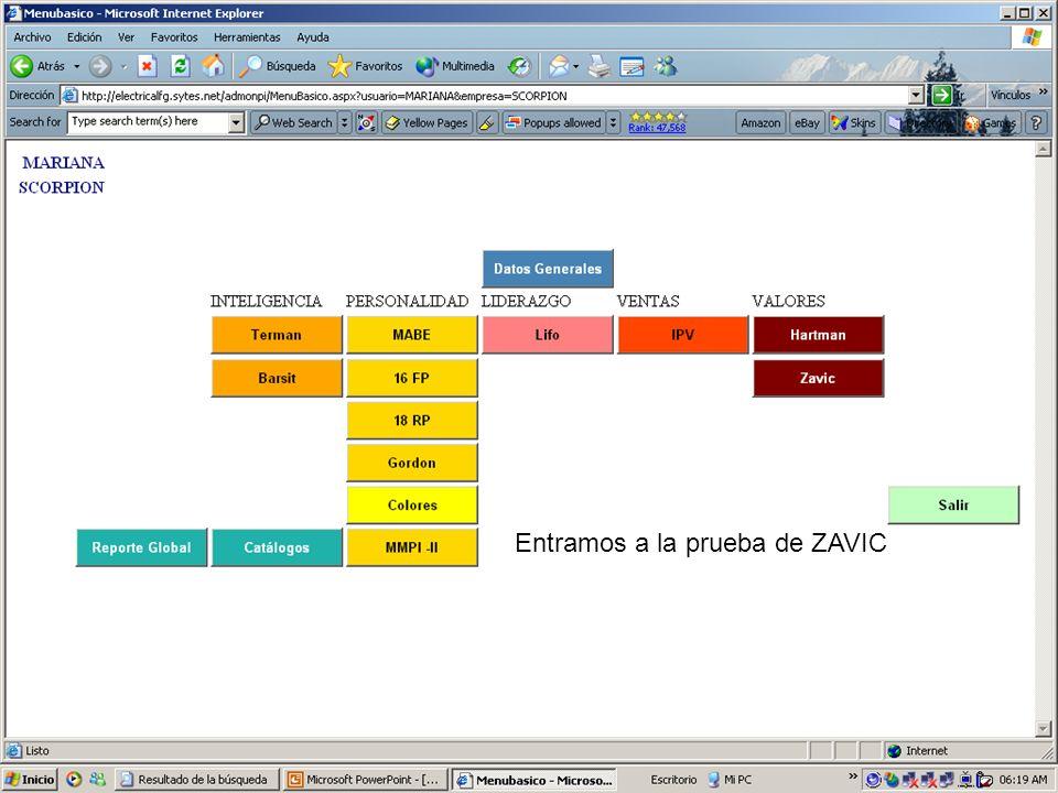 Entramos a la prueba de ZAVIC