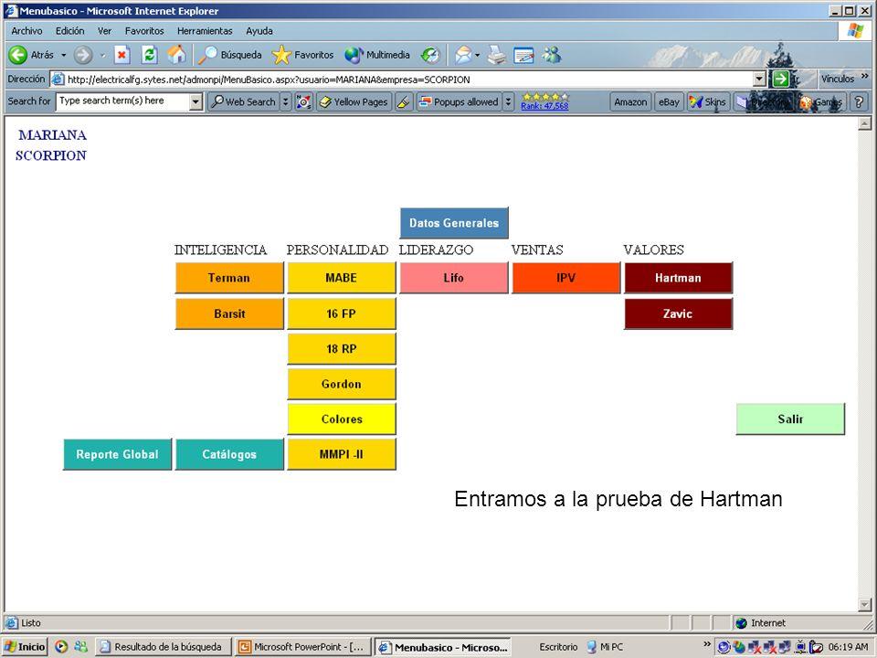 Entramos a la prueba de Hartman