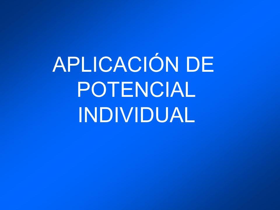 APLICACIÓN DE POTENCIAL INDIVIDUAL