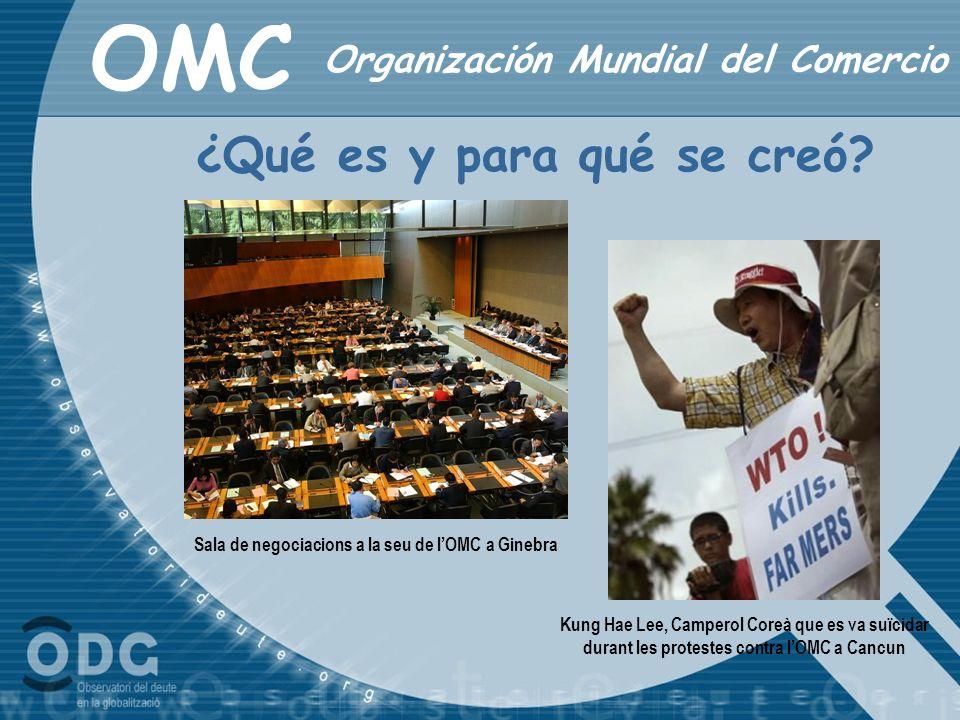 Sala de negociacions a la seu de l'OMC a Ginebra