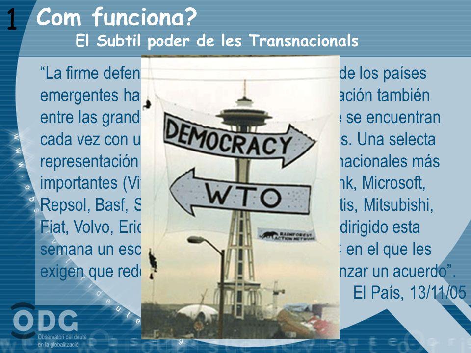 1 Com funciona El Subtil poder de les Transnacionals.