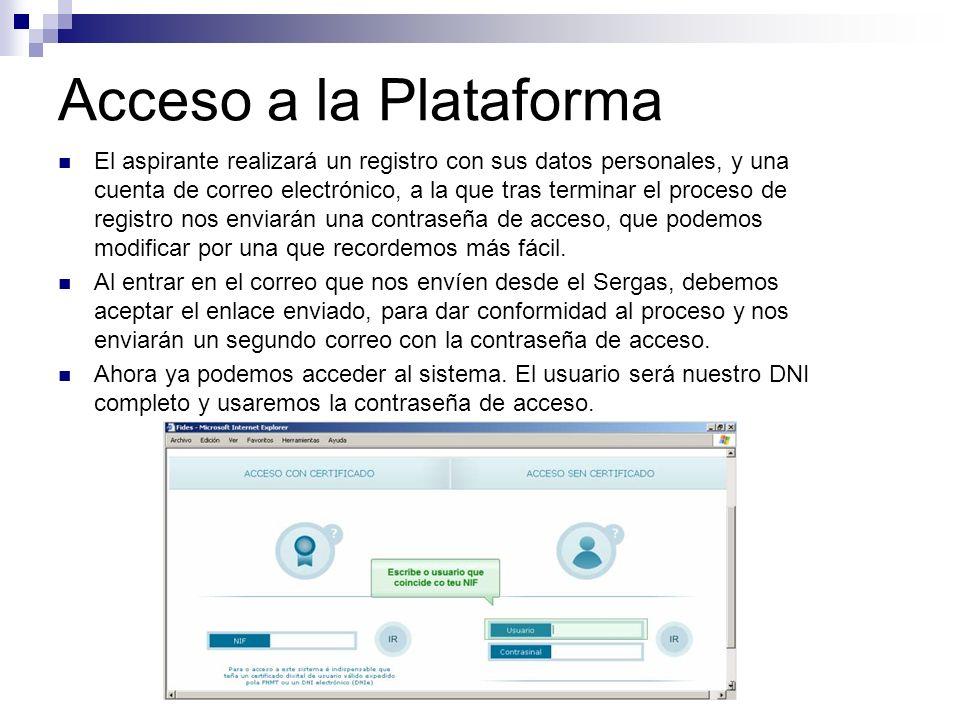 Acceso a la Plataforma