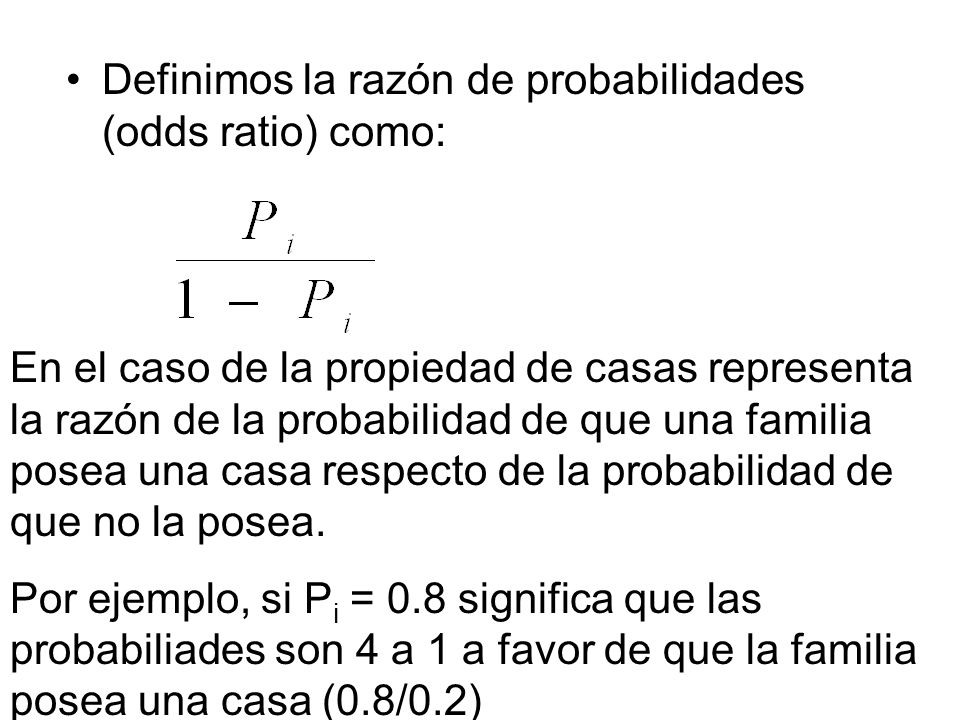 Definimos la razón de probabilidades (odds ratio) como: