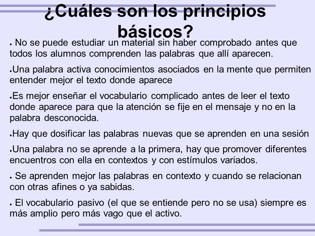 ¿Cuáles son los principios básicos