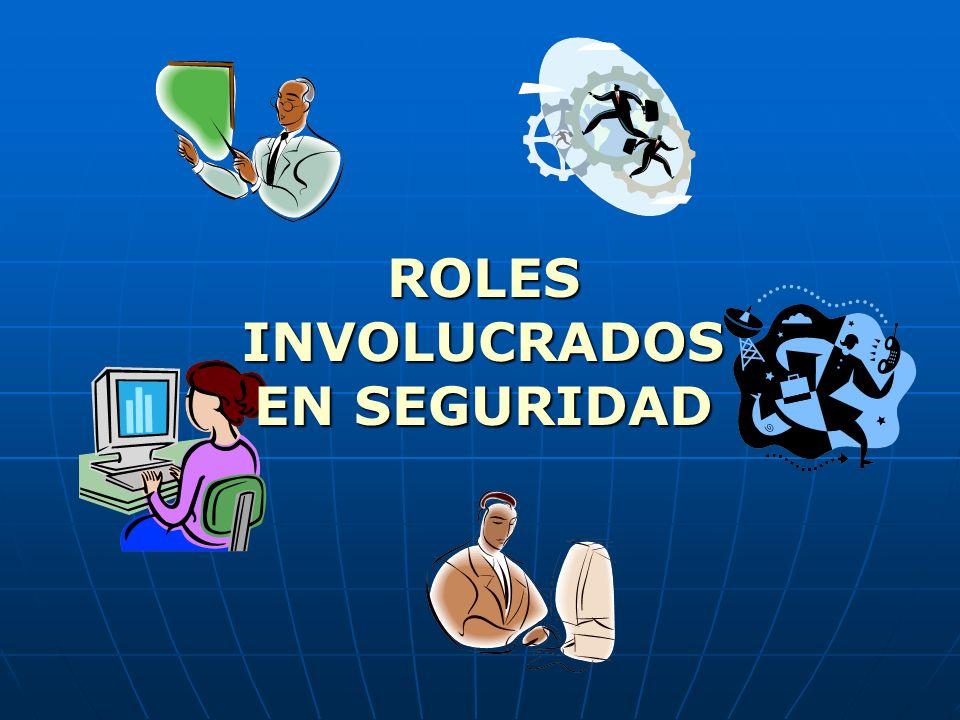 ROLES INVOLUCRADOS EN SEGURIDAD