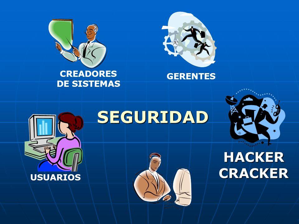 CREADORES DE SISTEMAS GERENTES SEGURIDAD HACKER CRACKER USUARIOS