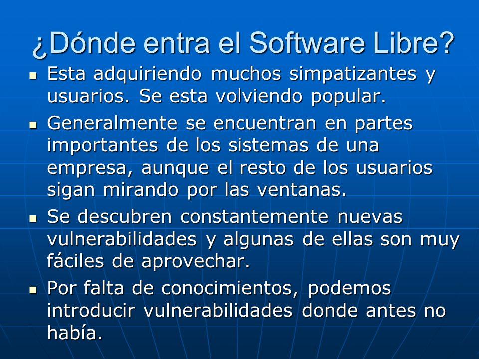 ¿Dónde entra el Software Libre